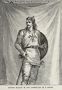 NATHAN BODLEY IN THE CHARACTER OF A VIKING From the book ' The viking Bodleys; an excursion into Norway and Denmark ' by Horace Elisha Scudder Published in Boston, by Houghton, Mifflin and Company in 1885 from the BODLEY FAMILY series of books