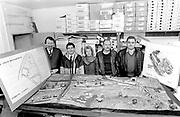 """Killorglin Castle development group including Frank Slattery, Sean o""""Sullivan and Liam Crowley in 1989.<br /> Killarney Now & Then - MacMONAGLE photo archives.<br /> Picture by Don MacMonagle -macmonagle.com"""
