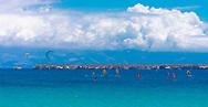 Chrisi Akti, Paros, Greece - July 2021: Golden Beach