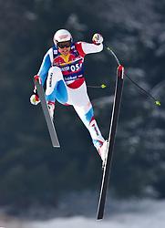 22.01.2009, Streif, Kitzbühel, AUT, FIS Alpine Ski World Cup, Men, 3. Training, Daniel Albrech Sturz, im Bild der schweizer Daniel Albrecht stürzt im 3. Training nach dem Zielsprung schwer // swiss Skiracer Daniel Albrecht crashes at the third training on the Streif in Kitzbuhel, Autria on 22/1/2009. EXPA Pictures © 2009, PhotoCredit: EXPA/ J. Groder