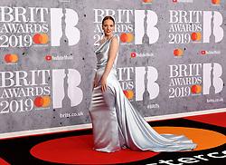 February 21, 2019 - London, London, United Kingdom - Image licensed to i-Images Picture Agency. 20/02/2019. London, United Kingdom. Jess Glynne at the Brit Awards in London. (Credit Image: © i-Images via ZUMA Press)