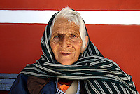 Woman's face lined with life, Mexico