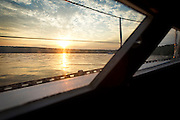 Sunset over Stockton Island in the Apostle Islands, Saturday, August 9, 2014