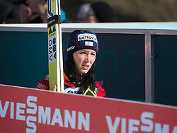 01.02.2015, Energie AG Skisprung Arena, Hinzenbach, AUT, FIS Weltcup Ski Sprung, Hinzenbach, Damen, Wettkampf im Bild Jacqueline Seifriedsberger (AUT) // during FIS Ski Jumping World Cup Ladies at the Energie AG Skisprung Arena, Hinzenbach, Austria on 2015/02/01. EXPA Pictures © 2015, PhotoCredit: EXPA/ Reinhard Eisenbauer