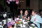 RICHARD DENNEN; CHLOE DELEVIGNE, Amanda Eliasch birthday dinner. North Audley st. London. 12 May 2010. -DO NOT ARCHIVE-© Copyright Photograph by Dafydd Jones. 248 Clapham Rd. London SW9 0PZ. Tel 0207 820 0771. www.dafjones.com.