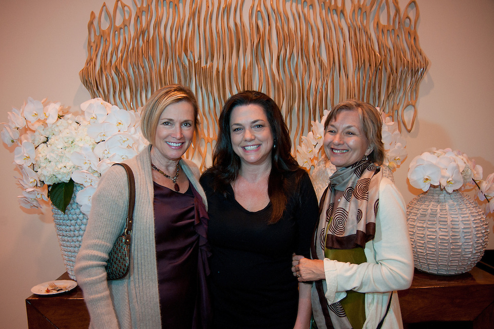 The Four Seasons Residences Austin hosted a party Friday night for current, future and prospective residents. In attendance were (L-R) Anne Ducote, Caprice Pierucci and Susan Marone.  The artwork behind the group, entitled Birch Cascade, was created by Pierucci.