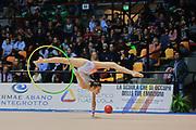 Veronica Minezzi atleta della società Putinati di Ferrara durante la seconda prova del Campionato Italiano di Ginnastica Ritmica.<br /> La gara si è svolta a Desio il 31 ottobre 2015.