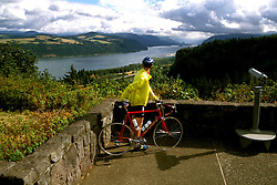 Oregon: Columbia River Gorge, Bicycling, Bicyclist, model released, Photo: orcolu104  .Photo copyright Lee Foster, www.fostertravel.com, 510/549-2202, lee@fostertravel.com