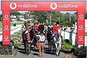 Craig Grylls on Rocket Spade - winner of Race 9, Vodafone NZ Derby (G1) 2400.<br /> Vodafone Derby Day at Ellerslie Race Course, Auckland on Sunday 7th March 2021 during lockdown level 2.<br /> Copyright photo: Alan Lee / www.photosport.nz