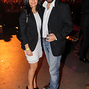 NLD/Amsterdam/20121013- LAF Fair 2012 VIP Night, Mimoun Ouled Radi en partner
