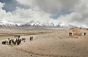 Attending the funeral of Haji Osman Boi (one of the Rais-e Shura, a chief Council) in Andemin camp. ..Trekking through the high altitude plateau of the Little Pamir mountains (average 4200 meters) , where the Afghan Kyrgyz community live all year, on the borders of China, Tajikistan and Pakistan.