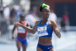 August 12, 2018 - Toronto, ON, U.S. - TORONTO, ON - AUGUST 12: Shamier Little (USA), gold in 400m hurdles at the 2018 North America, Central America, and Caribbean Athletics Association (NACAC) Track and Field Championships on August 12, 2018 held at Varsity Stadium, Toronto, Canada. (Photo by Sean Burges / Icon Sportswire) (Credit Image: © Sean Burges/Icon SMI via ZUMA Press)