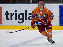 Urban Sodja (HK Acroni Jesenice, #35) during ice-hockey match between HK Acroni Jesenice and Moser Medical Graz99ers in 15th Round of EBEL league, on October 26, 2010 at Podmezaklja, Jesenice, Slovenia. (Photo By Matic Klansek Velej / Sportida.com)