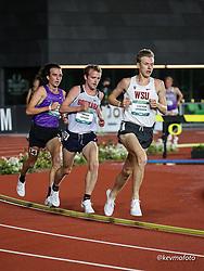 University of Oregon<br /> Oregon Relays track and field meet<br /> April 23-24, 2021 Eugene, Oregon, USA<br /> mens 5000, Wasington St,