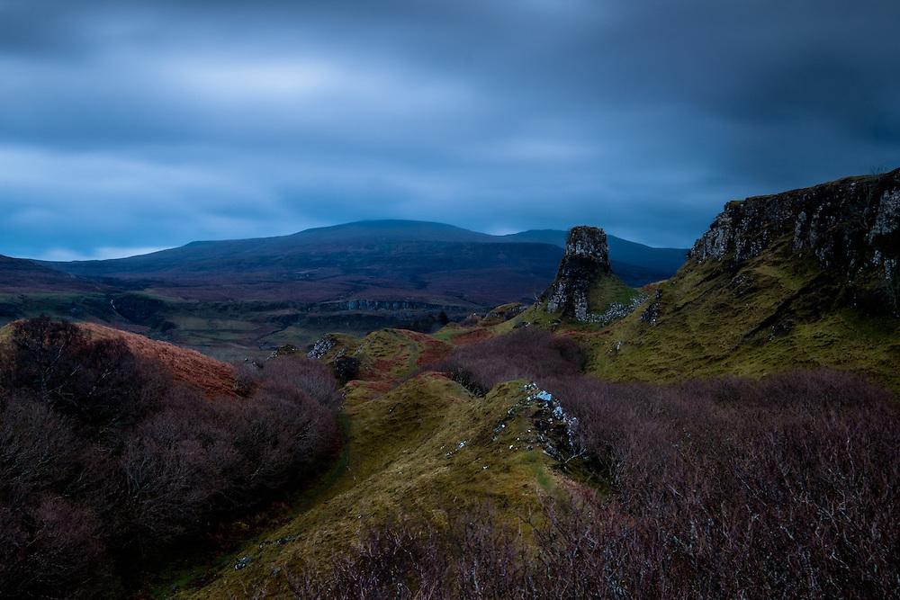 SCOTLAND - CIRCA APRIL 2016: Fairy Glen in Skye an Island in Scotland