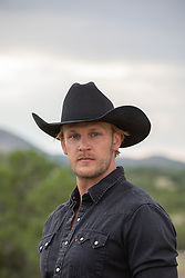 portrait of a good looking cowboy