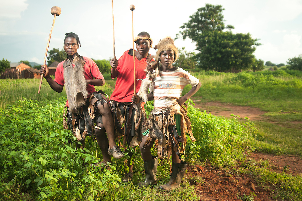 Ngoni Warriors at the Ncwala Festival in Chipata, Zambia