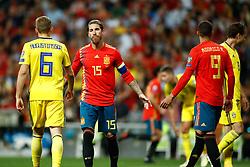 June 10, 2019 - Madrid, MADRID, SPAIN - Sergio Ramos Garcia of Spain during the 2020 UEFA European Championships group F, European Qualifiers, played between Spain and Sweden at Santiago Bernabeu Stadium in Madrid, Spain, on June 10, 2019. (Credit Image: © AFP7 via ZUMA Wire)