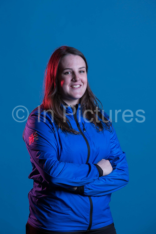 Molly Summerhayes during GB Park & Pipe Winter Olympic official Adidas kitting out day on 24th January 2018 in Stockport, United Kingdom.