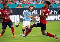 July 28, 2018 - Miami Gardens, FL, U.S. - MIAMI GARDENS, FL - JULY 28: Manchester City's Bernardo Silva (20)  scores a goal during the International Champions Cup game between FC Bayern Munich and Manchester City FC on July 28, 2018 at the Hard Rock Stadium in Miami Gardens, Florida. (Photo by Doug Murray/Icon Sportswire) (Credit Image: © Doug Murray/Icon SMI via ZUMA Press)