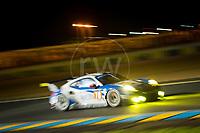 Qualifying Christian Ried (DEU) / Wolf Henzler (DEU) / Joel Camathias (CHE) driving the LMGTE Am  KCMG  Porsche 911 RSR 24hr Le Mans 15th June 2016
