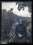 rural senior woman portrait France ca 1920s