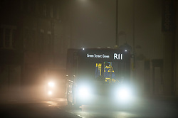 © Licensed to London News Pictures. 27/11/2020. <br /> Sidcup, UK. Fog in Sidcup High Street, London. Freezing foggy weather conditions this Friday morning across large parts of the UK. Photo credit:Grant Falvey/LNP