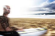 Matt Archibold<br /> beach before surf session OTW