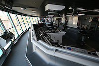 Royal Caribbean International's  Independence of the Seas, the world's largest cruise ship...Onboard feature pictures...The Bridge