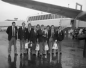 1976- Irish Rugby team leave DAP for New Zealand Tour
