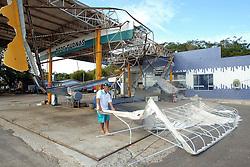 Estragos causados pelo vento de até 150 Km/h do ciclone Catarina que atingiu a cidade de Torres, no litoral norte do RS, Brasil. FOTO: Jefferson Bernardes /Preview.com