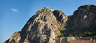 Royal rock tombs of Pontus including Mithridates I, died 266 BC. Amasya, Turkey .<br /> <br /> If you prefer to buy from our ALAMY PHOTO LIBRARY  Collection visit : https://www.alamy.com/portfolio/paul-williams-funkystock/amasya-turkey.html<br /> <br /> Visit our TURKEY PHOTO COLLECTIONS for more photos to download or buy as wall art prints https://funkystock.photoshelter.com/gallery-collection/3f-Pictures-of-Turkey-Turkey-Photos-Images-Fotos/C0000U.hJWkZxAbg