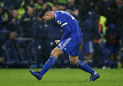 Cardiff City's Sean Morrison celebrates at full time during the Premier League match at the Cardiff City Stadium, Cardiff.