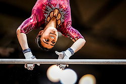 October 28, 2018 - Doha, Quatar - Nicolle Castro of Mexico   during  Uneven Bars qualification at the Aspire Dome in Doha, Qatar, Artistic FIG Gymnastics World Championships on 28 of October 2018. (Credit Image: © Ulrik Pedersen/NurPhoto via ZUMA Press)