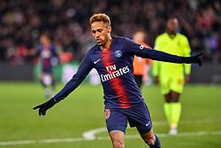 November 2, 2018 - Paris, ile de france, France - Neymar Jr #10 celebrate the 2nd goal during the french Ligue 1 match between Paris Saint-Germain (PSG) and Lille (LOSC) at Parc des Princes stadium on November 2, 2018 in Paris, France. (Credit Image: © Julien Mattia/NurPhoto via ZUMA Press)
