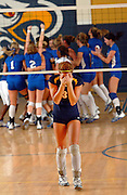 Naples outside hitter Marissa Baker reacts to her team's loss against Arcadia-DeSoto County in the Class 4A volleyball regional final, on Nov. 15, 2008 at Naples High School. Naples lost the match in five sets, ending their bid for the state championship.