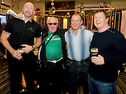 Rugby mad Don Corcoran who stewarts at all the Connacht games with Trevor Brennan, Frankie Sheahan and Paul Wallace  at the Guinness Area22 event in the Carlton Hotel Galway..