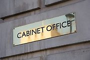 Cabinet Office on Whitehall in London, England, United Kingdom. The Cabinet Office supports the Prime Minister to ensure the effective running of government. While also being the corporate headquarters for government, taking lead in critical policy areas.