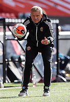 Sheffield United manager Chris Wilder throws the ball back to his player<br /> <br /> Photographer Alex Dodd/CameraSport<br /> <br /> The Premier League - Sheffield United v Chelsea - Saturday 11th July 2020 - Bramall Lane - Sheffield<br /> <br /> World Copyright © 2020 CameraSport. All rights reserved. 43 Linden Ave. Countesthorpe. Leicester. England. LE8 5PG - Tel: +44 (0) 116 277 4147 - admin@camerasport.com - www.camerasport.com