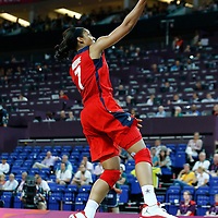 09 August 2012: USA Maya Moore goes for the layup during 86-73 Team USA victory over Team Australia, during the women's basketball semi-finals, at the 02 Arena, in London, Great Britain.