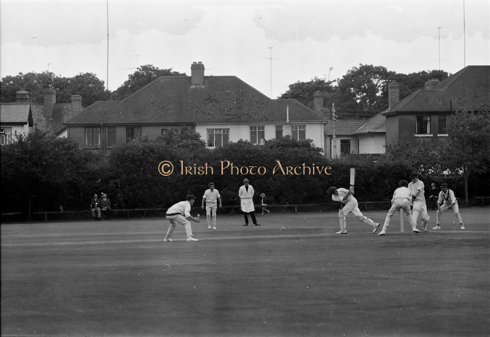 18/07/1970<br /> 07/18/1970<br /> 18 July 1970<br /> Cricket: Clontarf 1st XI v Old Belvedere, Leinster Senior Cup Final at Clontarf Cricket Club, Dublin. Frank O'Hanlon, Old Belvedere, batting.