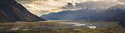 The Valley of Tasman River when the wind gusts throws water in air, Tasman Glacier, New Zealand Ⓒ Davis Ulands | davisulands.com