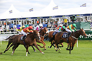 SALUTI (11) ridden by Georgia Cox and trained by Paul Midgley winning The Silk Series Lady Riders Handicap Stakes (Pro-Am Lady Riders Race) over 6f (£20,000)   during the second day of the St Leger Festival at Doncaster Racecourse, Doncaster, United Kingdom on 12 September 2019.