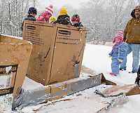 Gilford Parks and Rec annual cardboard derby competition at Gilford Outing Club February 24, 2010.