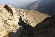 Turkey July 21 2011: View of mountains near the chromium mine in the Aladag mountain area near Çukurbag.  Copyright 2011 Peter Horrell