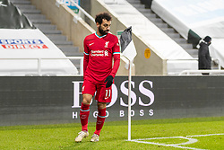 NEWCASTLE-UPON-TYNE, ENGLAND - Wednesday, December 30, 2020: Liverpool's Mohamed Salah walks off after being substituted during the FA Premier League match between Newcastle United FC and Liverpool FC at St. James' Park. The game ended in a goal-less draw. (Pic by David Rawcliffe/Propaganda)