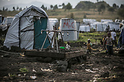 A water stand in an IDP camp, Goma, Democratic Republic of the Congo.