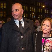 NLD/Amsterdam/20140307 - Boekenbal 2014, Tommie Wieringa en partner Shanna Samkalden