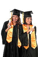 Girls celebrating their graduation very happy.