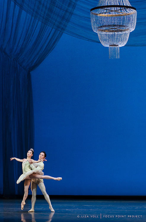 Misa Kuranaga and Jeffrey Cirio of Boston Ballet at the Boston Opera House for George Balanchine's 'Theme and Variations'